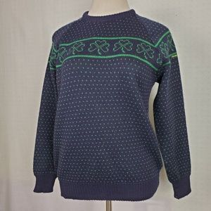 Vintage | Blarney Castle Shamrock Wool Sweater L